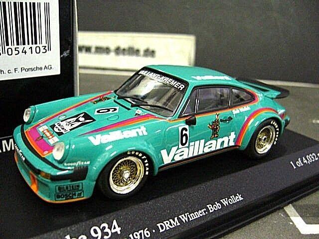Porsche 911 934 DRM 1976 Norisring VAILLANT  6 Wollek Kremer MINICHAMPS 1 43