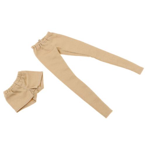 2pcs Fashion Long Trouser Short Pants Suit for 1//6 BJD Girl Dolls Khaki