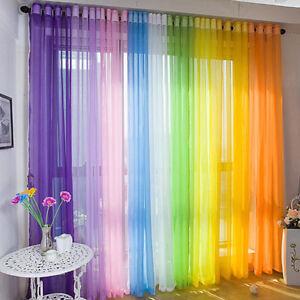 New-Home-Door-Sheer-Curtain-Window-Metal-Eyelet-Voile-Drape-Panel-Scarf-Valances