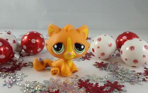 Littlest Pet Shop Orange And Yellow Bengal Tiger Tabby Cat 1834 Ebay