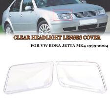 Set of 2Pcs Plastic Headlight Lenses Replacement For VW JETTA BORA MK4 1999-2005