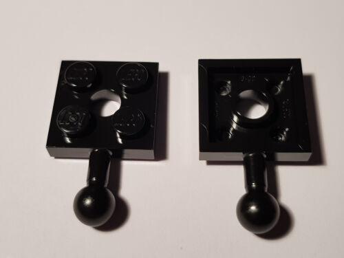 LEGO ® 5 x 15456 Embrayage plaque 2 x 2 Noir 6051038 voiture de chemin de fer #bc05