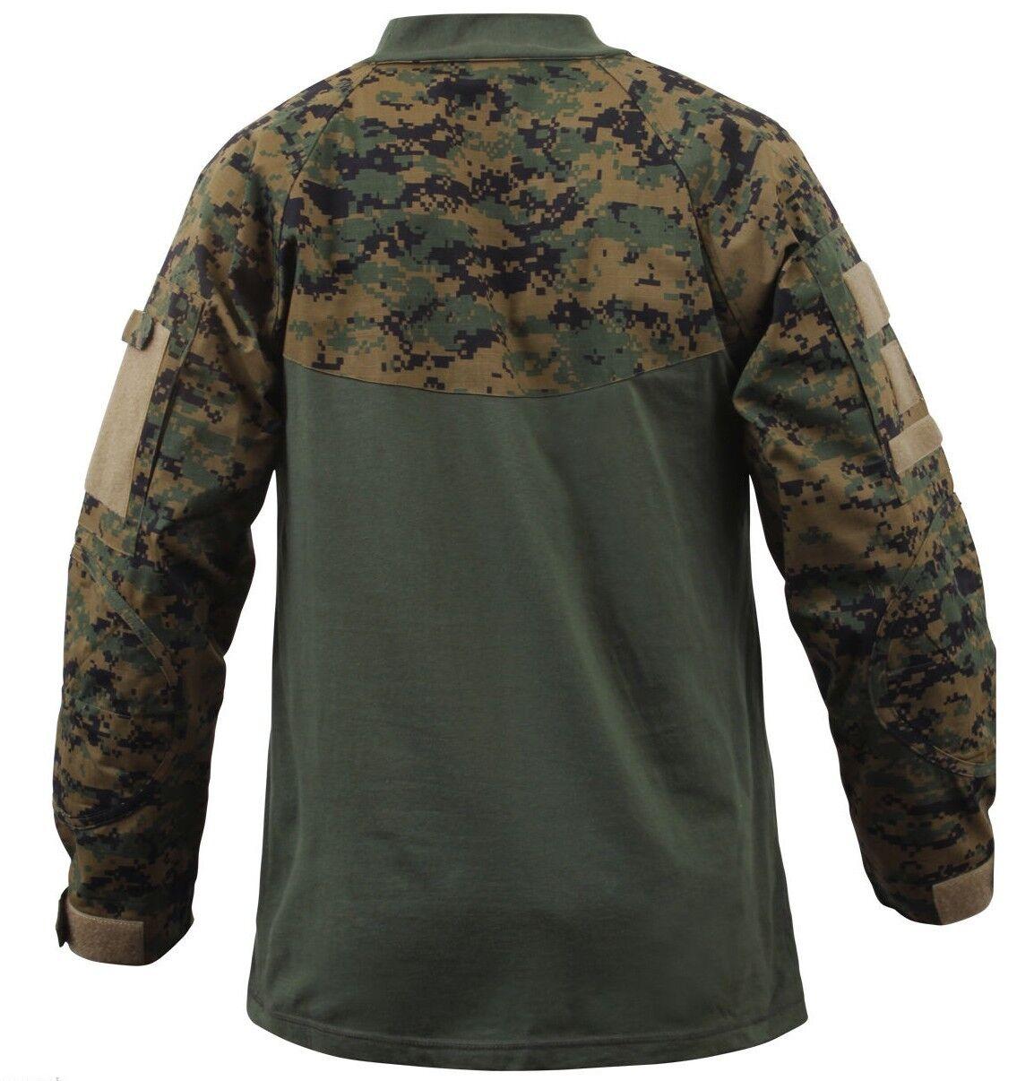 Camicia Militare Militare Militare Woodland Digital Camo Tactical Stile Varie Taglie Rothco 90005 e62974