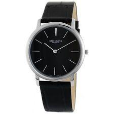 Stuhrling Original Men's 601.33151 Ascot Swiss Quartz Black Leather Strap Watch