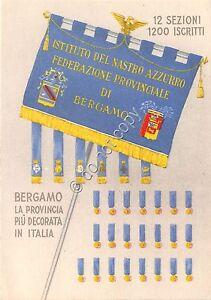 Cartolina-Postcard-Bergamo-Istituto-del-Nastro-Azzurro-Giornata-azzurri