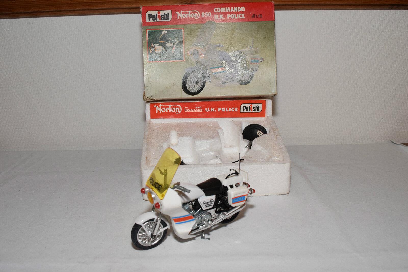 POLISTIL MS112 MS.112 NORTON COMMANDO 850 UK POLICE BIKE MOTOR MIB RARE SELTEN