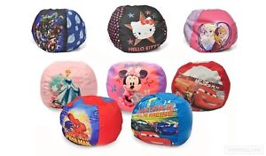 Disney Character Kids Round Bean Bag Chair Toddlers