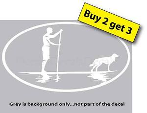 Stand Up Paddle Board with Dog Sticker Vinyl Decal Car Window Paddleboard SUP