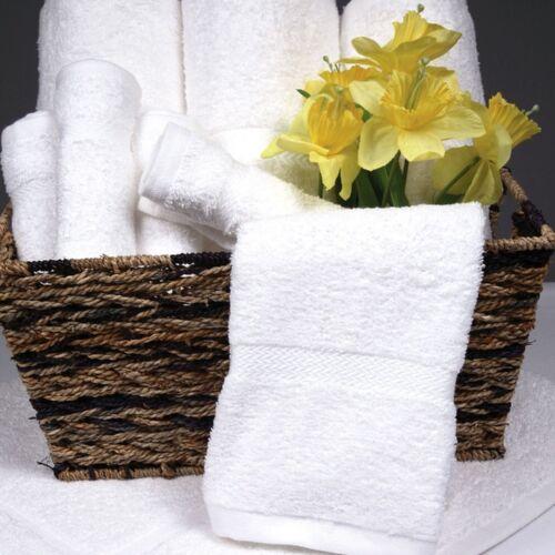 "WHITE 6pk Riegel Royal Hotel Commercial Grade Large Cotton Bath Towels 27/"" x 54/"""