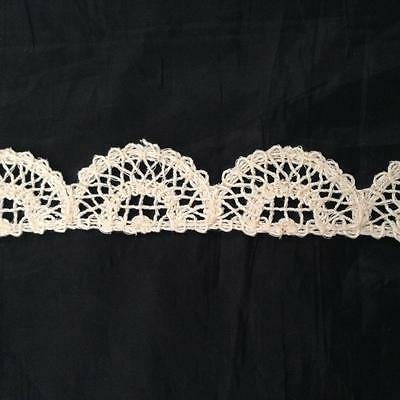 """10 Yards natural Cotton Crochet Cluny Scalloped Unique Trim 1 1//4/"""" SHIP FROM USA"""