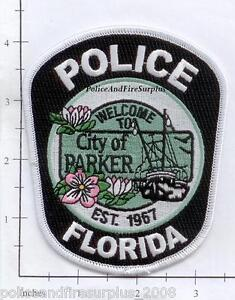 Details about Florida - Parker FL Police Dept Patch