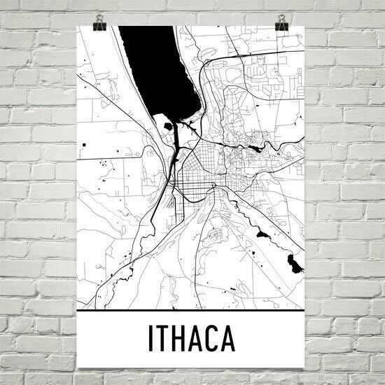 Ithaca NY Street Map Poster Poster Poster b707c6 - exiid ...