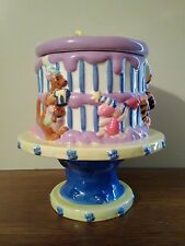 Disney Winnie the Pooh FTD Happy Birthday Cake Pedestal Cookie Jar