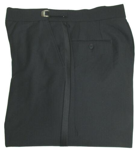 New With Tags Black Flat Front Adjustable Waist Tuxedo Pants Wedding Prom Mason