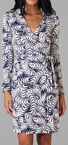 Diane Von Furstenburg DVF Jeanne Navy Blue & White