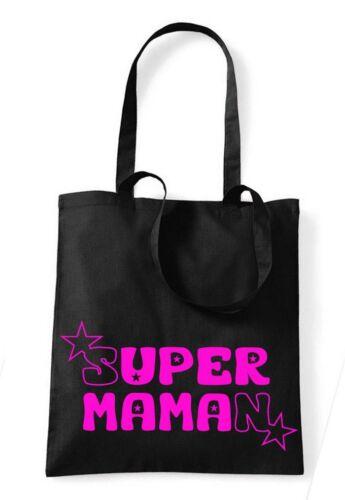 Sac noir 100 /% coton  marque westford mill SUPER MAMAN STAR