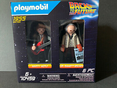 Playmobil 70459 Back to the Future Doc Brown  Marty 1955 2 Figures Pack Rare Toy