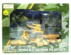 Military-Set-10-Modern-Armor-Set-Truck-Chopper-Ankyo-New