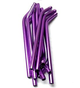 L11447 RC Nitro Fuel Refill Bottle Pipes Only x 10 Purple 8mm Diameter