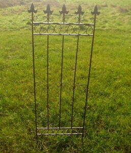 2 Steck Rankgitter Zaunelement Gartenzaun Eisen Antik Landhausstil