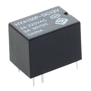10-pcs-Mini-Electronic-Relays-DC-12V-Black-S4I4