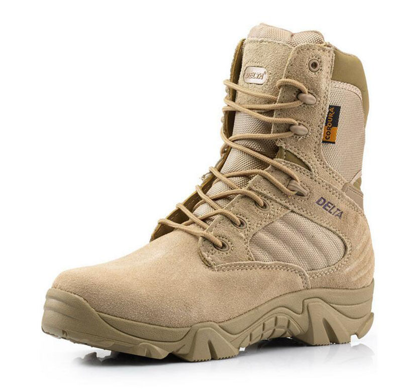 DELTA 511 Military Tactical Leather Boots Ankle Boots Desert Combat Army shoes