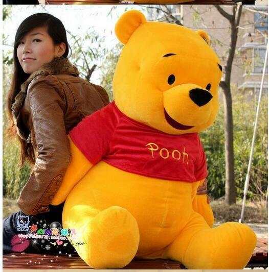 100CM Hot Winnie the Pooh Plush Toy Soft Bear Stuffed Animal Doll Special Gift
