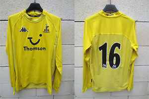 VINTAGE-Maillot-TOTTENHAM-HOTSPURS-n-16-third-KAPPA-shirt-2005-worn-porte-XL