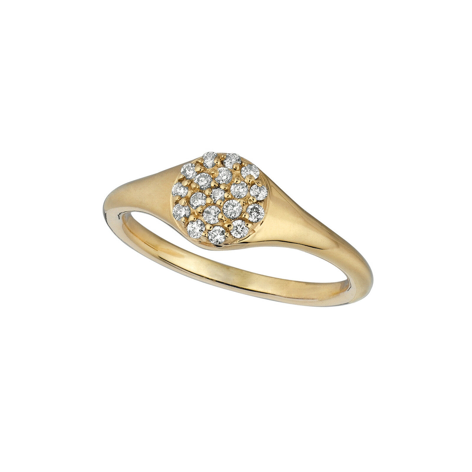0.18 CT Diamond ring Set In 14K Yellow gold IDJR6757YD