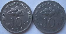 Malaysia 10 sen 1995 coin 2 pcs