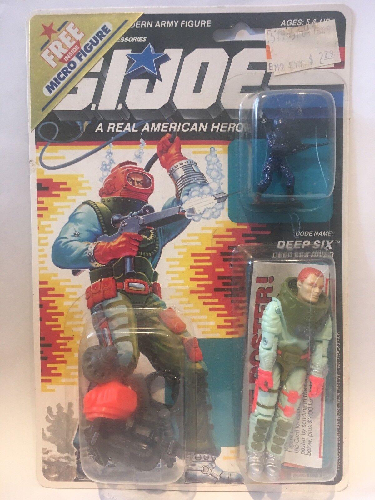 G.i Joe ARAH Deep six 1988 MOSC MOC.