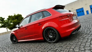 For-AUDI-A3-S3-8V-13-17-ABS-SIDE-SKIRTS-SIDESKIRTS-BLADE-SILL-COVERS-Skirt-S-3