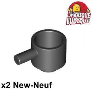 2x Minifig utensil poele frying pan noir//black 4528 NEUF Lego
