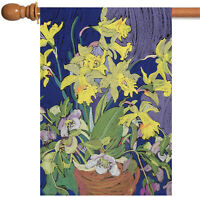 Toland - Daffodil Bouquet - Colorful Yellow Spring Flower House Flag