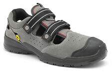 Zephyr ZX46 SB SRC ESD Size 12 Grey Suede Steel Toe Cap Safety Trainers Sandals