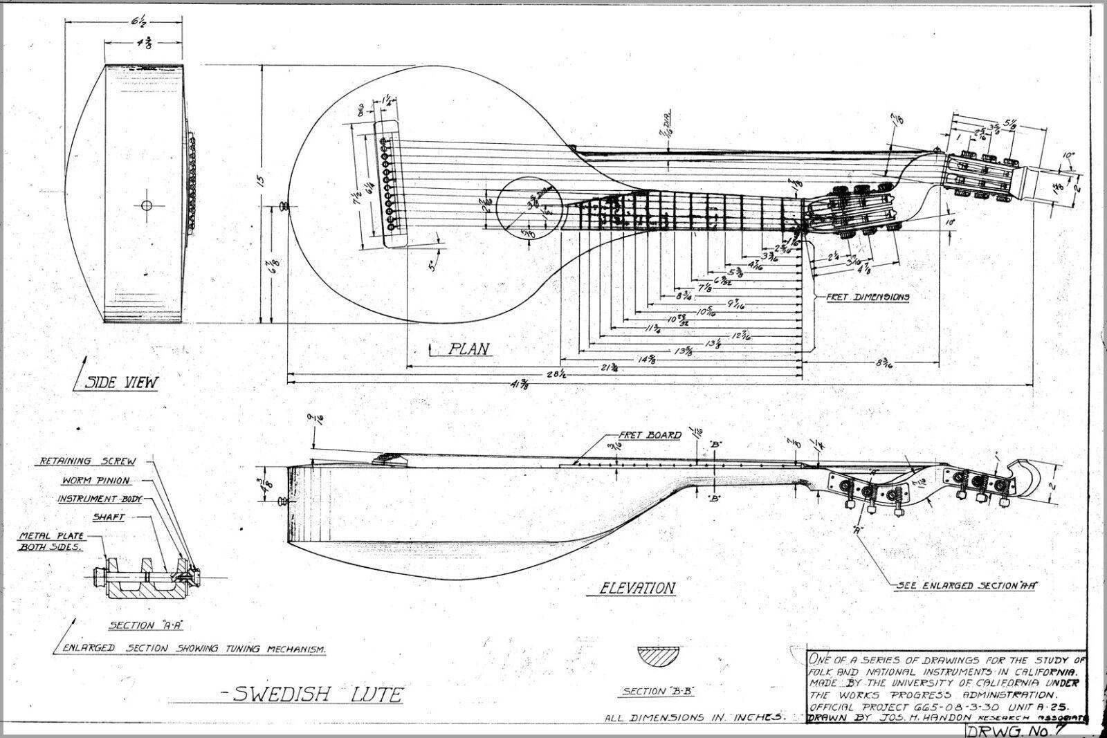 Poster, Many Größes; Harplute Mechanical Drawing