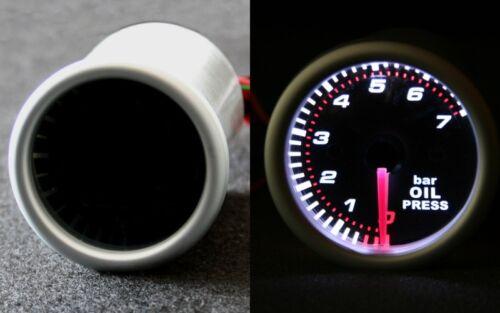 Sensor//Geber Q Öldruckanzeige Öl Druck Anzeige Instrument SMOKE LINE WEISS inkl