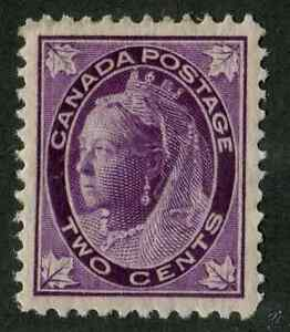 Canada #68 2c Purple 1897-1898 Maple Leaf Issue Vertical Wove Paper VF-83 OG LH