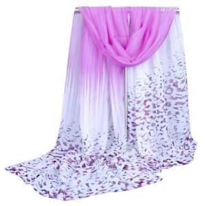 Lady-Women-039-s-Long-Soft-Wrap-Lady-Shawl-Silk-Chiffon-Scarf-Scarves-Violet-Color