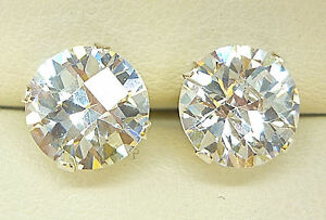 925-STERLING-SILVER-STUD-EARRINGS-8mm-ROUND-CREATED-SIMULATED-DIAMOND