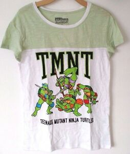 TEENAGE-MUTANT-NINJA-TURTLES-TMNT-GRAPHIC-TEE-T-SHIRT-WOMENS