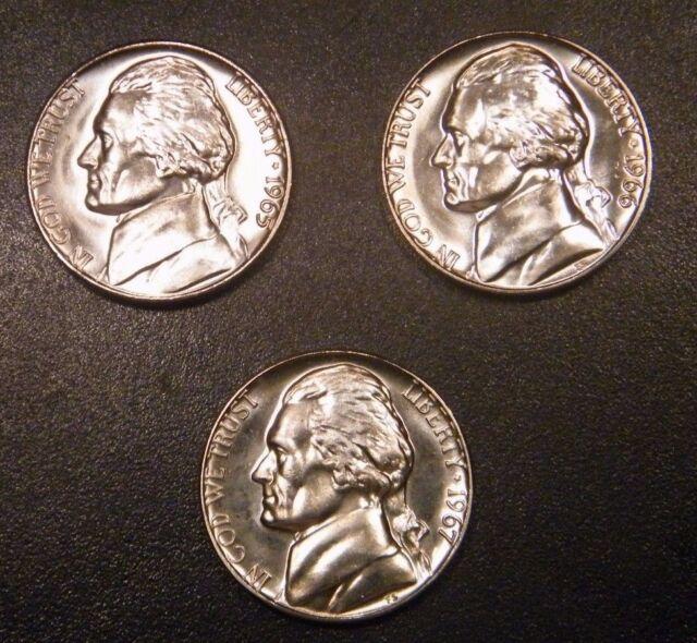 SMS Set 1965 SMS Jefferson Mint Nickel from Original U.S