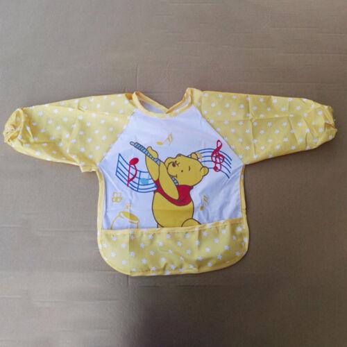 Kleinkind Baby Lätzchen Wasserdicht Malschürze Spucktücher mit Lange Ärmel Mikey