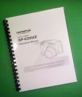Laser Printed Olympus Sp-620uz Sp620uz Camera 76 Page Owners Manual Guide