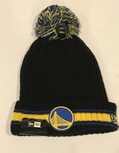 aed4ec61df025 NEW ERA HARDWOOD CLASSIC GOLDEN STATE WARRIORS POM KNIT BEANIE HAT ...