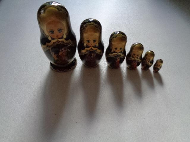 7 Piece Signed Matryoshka Russian Nesting Dolls Approximatey 7  - 1
