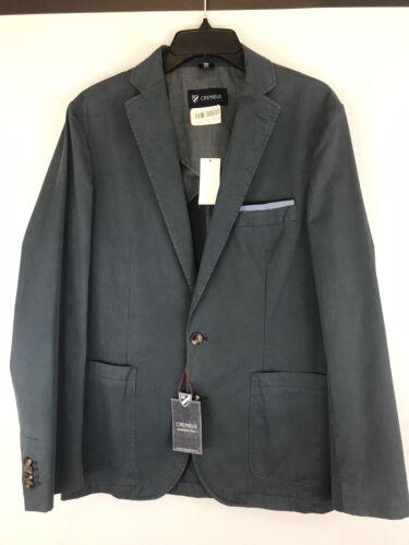 $195 NWT Cremieux Mens Blazer Sport Coat Jacket XL X-Large Vintage Graphite Gray