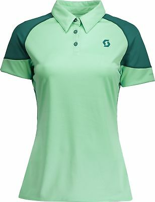 Scott Trail Mtn 30 Short Sleeve Womens Cycling Polo - Green
