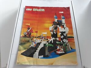 Lego-6078-chevaliers-notice-originale-Knights-1985-chateau-medieval-moyen-age