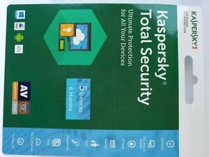 2X Kaspersky Total Security 5 devices 6 Months  2019